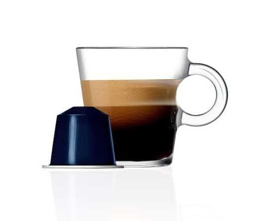 highest caffeine nespresso pod nespressoKazaar pod on white background